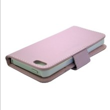 Simple Pink Mobile Phone Leather Case