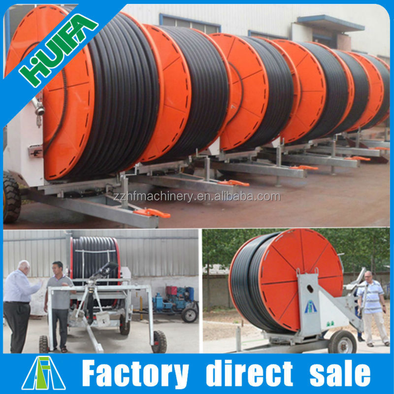 Farming hose reel water irrigation equipment with spray