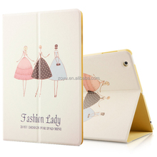 Painting style, PU leather cover case for ipad 4 cover