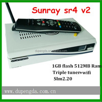 White box Sunray 800 Hd Se Sr4 Triple Tuner Rev E V2 Motherboard Sunray4 V2 Hd Decoder Sunray4 800se V2 Satellite Receiver