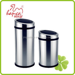 Best selling products 20L-40L Wal-mart Stainless Steel Hand Touch Lid Standing Waste Bin China Supplier With BSCI