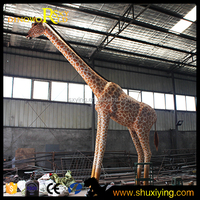 2015 Vivid Life Size Animatronic Giraffe For Animal Theme Exhibition