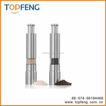 thumb-operated salt and pepper grinder,stainless steel salt and pepper grinder/mills,manual pepper grinder/seasoning pot