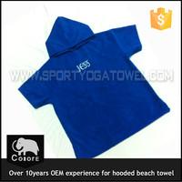 Custom digital printed terry kids poncho hooded baby towel