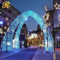 Beautiful giant stage decoration for christmas party