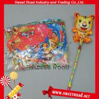 Cartoon Tiger Balloon Stick Candy Toy