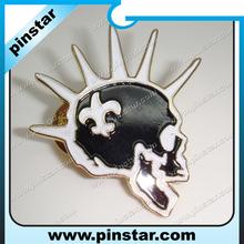 Skull Ace pin badge. Ace of spades. Bikers badge. Lapel badge. soft enamel Black/white color