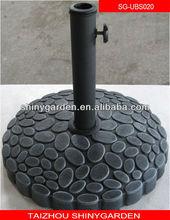 De goma base de paraguas, paraguas base redonda, jardín paraguas base