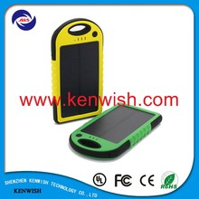 portable solar panel charger 5000mah charger bank