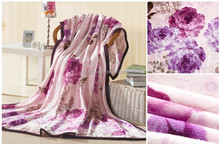 Wholesale cheap colorful fleece blanket stocklots H4404 high quality soft air conditioner blanket surplus