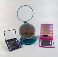 Hot Sale Fashionable Plastic LED lighted makeup mirror customization