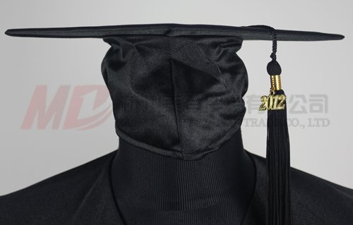 shiny black cap