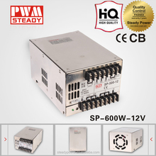 600W Built-in active PFC function SP-600-12 cctv ac dc single output swithing power suppy