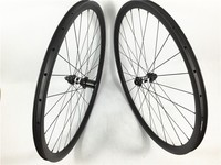 FSC30CM-25T Farsports 30mmx25mm full carbon clincher cyclo cross bike wheel set 3 Cross lacing straight pull DT hub disc braking