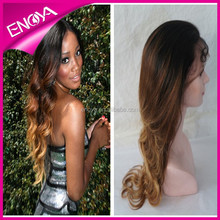 2015 Hair Styling Ombre Two Tone Color Body Wave Brazilian Virgin Human Hair Full Lace Wig