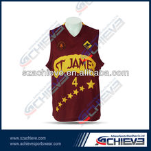 custom full sublimation with new design basketball wear