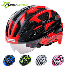 2015 HOT!RockBros Bicycle Cycling Helmet EPS+PC Material Ultralight Mountain Bike Helmet 32 Air Vents With glasses,Goggle Helmet