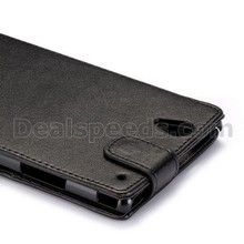 Commercial Style Mangnetic Flip Leather Holster Case for Sony Xperia T2 Ultra(Black)