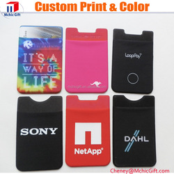 New high quality manufacturers cheap sticky mobile phone pouch with Movable 3M sticker