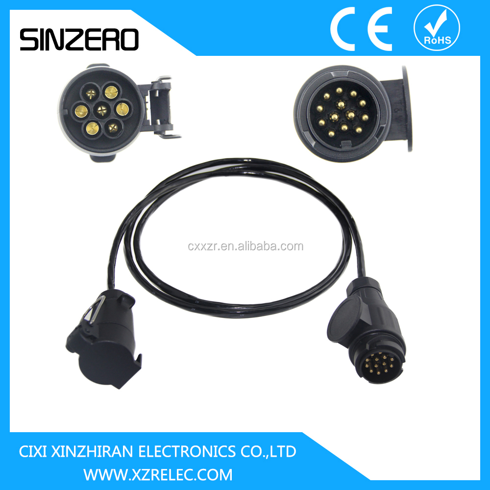 12v Or 24v Spiral Cable/tractor Trailer Cable/towing Extension ...