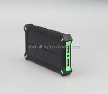 2015 unique design Dual USB Portable 8000mAh solar mobile power bank(PB-SS008)