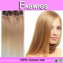 Alibaba 2015 new 7a factory hot sale direct selling products no tangle color 27 cheap 100% human hair clip in hair extension