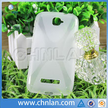 2014 New Models Durable Translucent X Design TPU Case Covers for Alcatel One Touch Pop C7