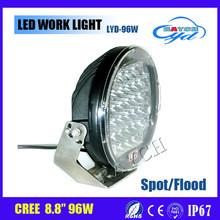 96W 9 inch 12v 24v 60/30 degree flood beam high quality Car Extra LED Working Light