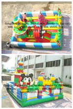Hot sale commercial grade PVC Tarpaulin brand new FU051 inflatable fun city for kids