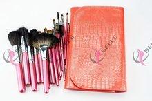 Latest best sell goat nylon pony weasel hair china makeup brush kit