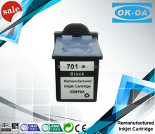 Remanufactured for HP 701 for HP 640 Fax ink cartridge