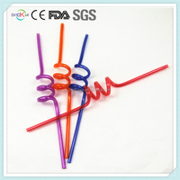 Branded Twist Hard Plastic Straw Hard Plastic Drinking Straw Reusable Plastic Straws