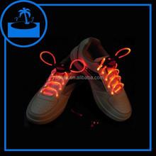 promotional cheap led flashing optical fiber shoelaces with light