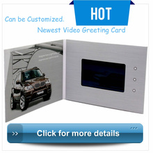 "4.3''7""10"" Lcd Advertising Express Video Card Brand Of Greeting Card Module"