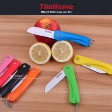 "TJC-014 3.2"" folding fruit knives ceramic knife for travelling hiking"
