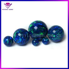 2015 wholesale 5mm round blue fire synthetic opal beads