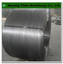 Secondary Steelmaking additive FeSi alloy powder cored wire , ferro silicon cored wire