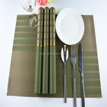 green check pvc Placemat modern plastic hotel heat insulation pad napkin dining table mat coasters