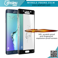 ENSIEU 2015 New Arrival for Samsung Galaxy S6 Edge Tempered Glass Screen Protector, Real Japan Asahi Glass with Nipa Glue