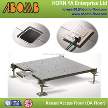 wholesale construction material/pvc floor carpet perforated fiber cement board floor raised pedestal raised floor dwg