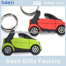Factory OEM custom 3D injection car keychain soft pvc rubber keyring