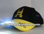 2012 fashion style 6 panel high quality LED cap