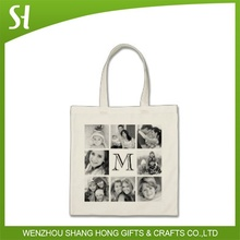 custom logo cotton material canvas tote bag fashion recyclable with photo