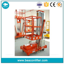 Customized hot selling single post one man lift aluminum lift
