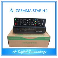 original dvb t2 FTA hd satellite receiver zgemma-star h2 combo dvb-s2+dvb-t2/c digital satellite receiver