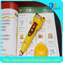 music sound vedio with 3 languages in 5 books kids read pen DC011