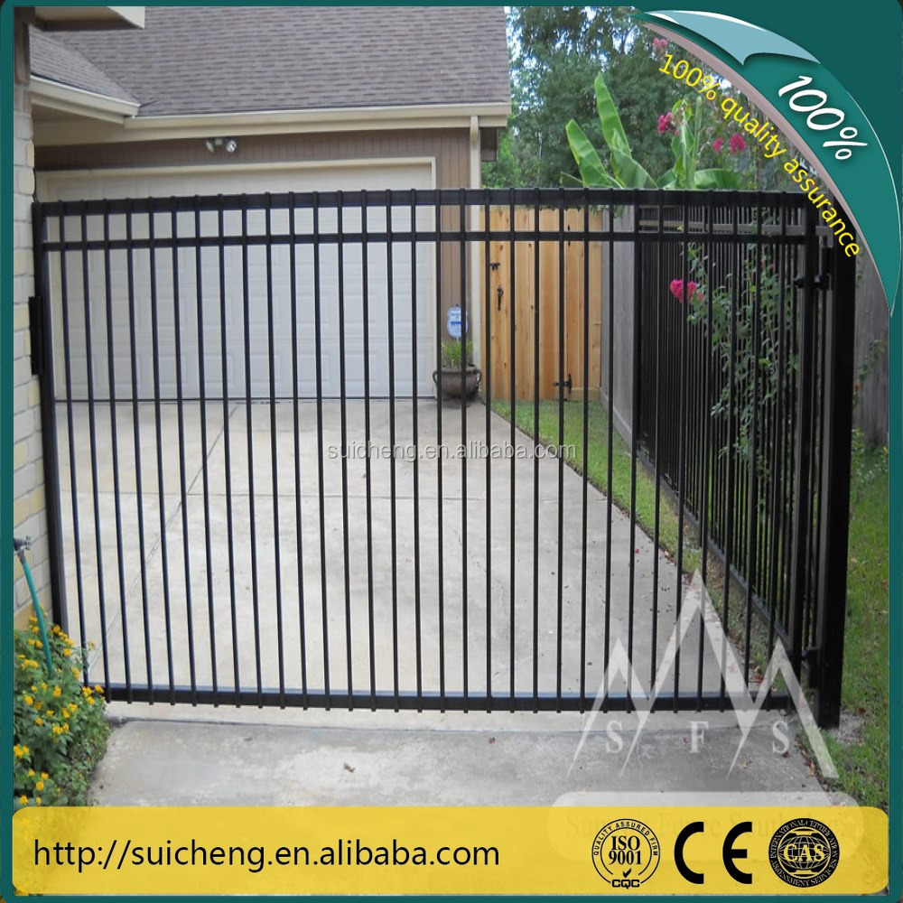 Wrought iron fence panels palisade euro garden