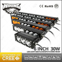 4x4 30W Led Light Bar 6 inch Amber Offroad Led Light Bar 2550LM Wholesale Amber LED Light Bar