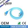SIPU high quality flat vga cable 3+4