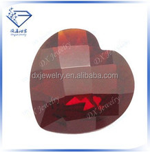 checkerboard cut heart shape rough red glass gems, stone bead, diamond price per carat